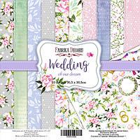 "Набор бумаги ""Wedding of our dream"" 20 х 20 см. 10 листов, фото 1"
