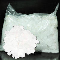Конфетти квадратики белые, бумага, 50 грамм