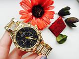 Стильные часы реплика Ролекс золото+черный циферблат, фото 2