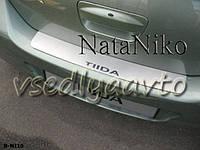 Накладка на бампер Nissan TIIDA 4-дверка с 2007- (NataNiko)