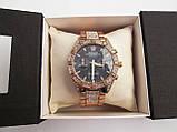 Стильные часы реплика Ролекс золото+черный циферблат, фото 7