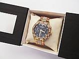 Стильные часы реплика Ролекс золото+черный циферблат, фото 8