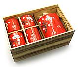 Сервиз керамический (чайник ,4 чашки)(28х16х12 см), фото 2