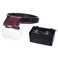 Бинокулярные очки MG81001B с LED подсветкой, увеличение:1,7Х 2Х 2,5Х 4,5Х, фото 1