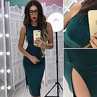 Коктельное платье из замши с разрезом в расцветках АМС-1801.086(3)