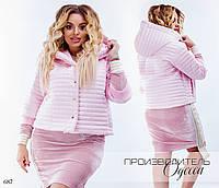 Куртка женская короткая плащевка на синтепоне 50-52,54-56