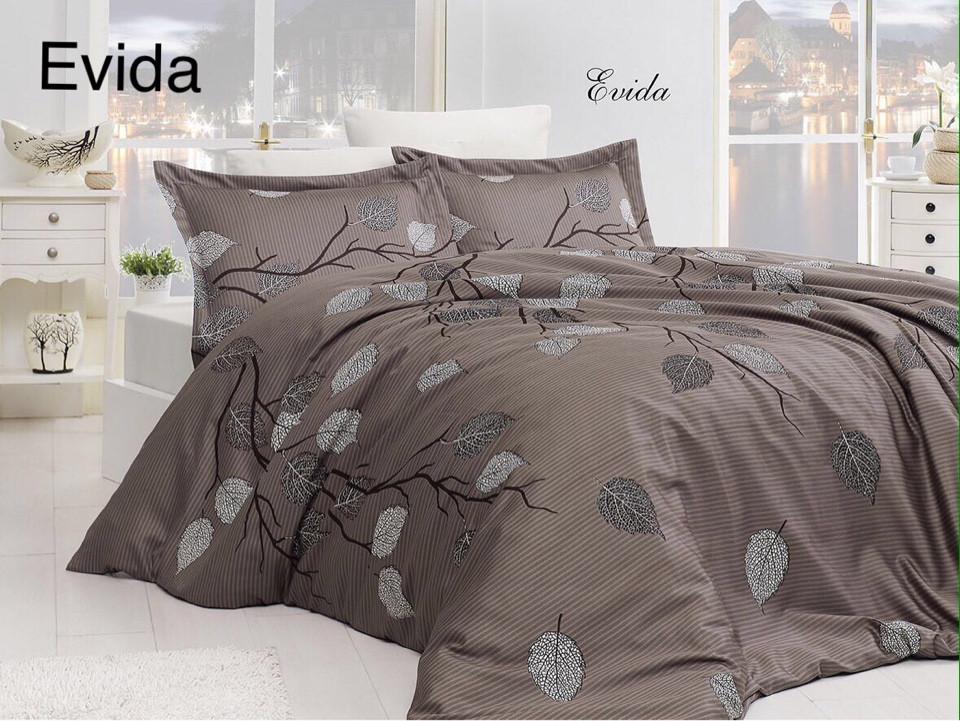 Постельное белье сатин First Choice (евро-размер) № Evida