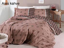 Постельное белье сатин First Choice (евро-размер) № Ares Kahve