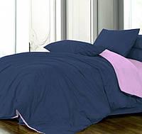 Двуспальное постельное белье, сатин однотонный, микс №4052+№33