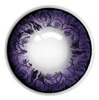 """Цветные линзы """"Фиолет узор"""", фото 1"""