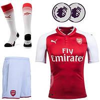 Полный комплект Арсенала: футбольная форма + гетры + печать номера/имени