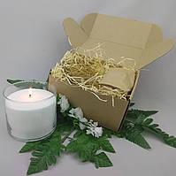 Подарочный набор белая насыпная свеча 10 см