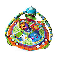Коврик для младенца PY603 (12шт) 95-95см,дуга, подвески 5шт,проектор,муз, св,на бат,в кор,56-38,5-11см