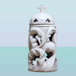 Глазурована керамічна лампадка фігурка Ажур