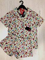 Женская пижама, Женский комплект рубашка с шортами