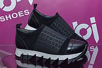 Кроссовки женские АБ4, замша, черные