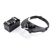 Бинокулярные очки MG81001E с LED подсветкой, увеличение:1,2Х 1,8Х 2,5Х 3,5Х