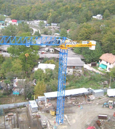 Монтаж башенного крана на Зеленодольской элктростанции (ДТЭК)