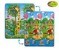 """2028017 Дитячий двосторонній килимок """"Велика жирафа та Сонячний день"""", 150х180 см"""
