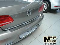 Накладки на бампер Volkswagen PASSAT B7 4-дверка с 2010- (NataNiko)