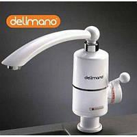 Проточный мгновенный водонагреватель воды Делимано, бойлер кран смеситель проточник нагреватель Delimano