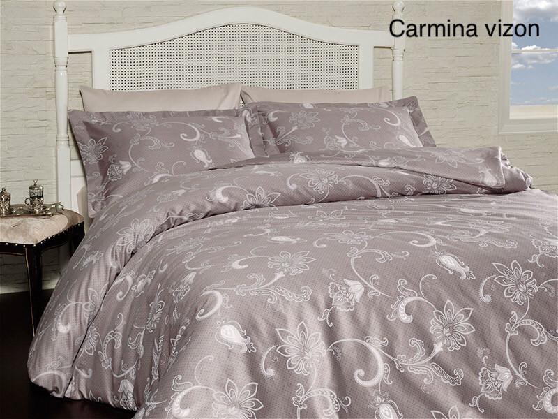 Постельное белье сатин First Choice (евро-размер) № Carmina Vizon
