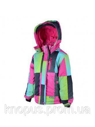 Зимняя термокуртка  для  девочек розово-голубая, Pidilidi, размеры 98-122, 134