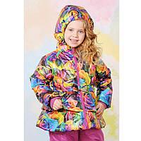 Куртка демисезонная для девочки Разноцветный  104 см Модный карапуз (03-00567-0)