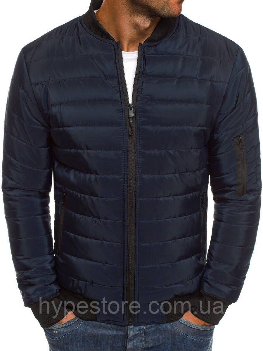 Весенняя мужская курточка, куртка, ветровка (темно-синий), Реплика