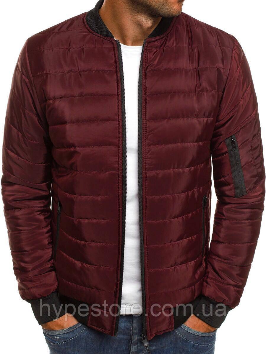 Весенняя мужская курточка, куртка, ветровка (бордовый), Реплика