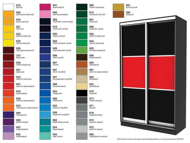 Шкаф-купе Эко-1 1500х450х2400 мм пленка виниловая Oracal, политра цветов RAL