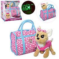 Интерактивная собачка Кикки 3835 с модной сумочкой: 22см, звук (русский язык)