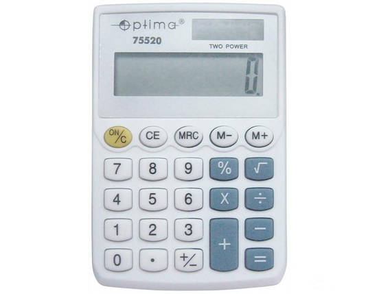 Калькулятор карманный Optima O75520, фото 2