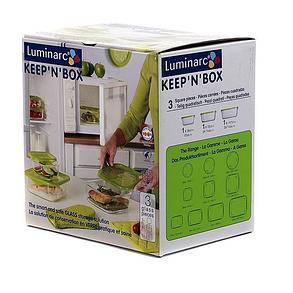 Набор пищевых контейнеров  с крышкой Luminarc KEEP'N'  J4708 3 шт., фото 2