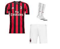 Полный комплект Милана: футбольная форма + гетры + печать номера/имени