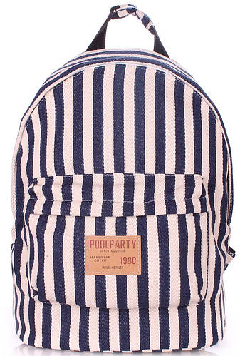 Стильный молодежный рюкзак 17 л. Poolparty Navy backpack-navy-blue