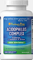 Пробиотик Puritan's Pride Probiotic Acidophilus Complex 1 billion / 100 Capsules