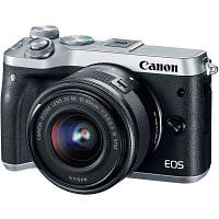 Цифровой фотоаппарат Canon EOS M6 Kit 15-45 IS STM Silver Kit (1725C045)