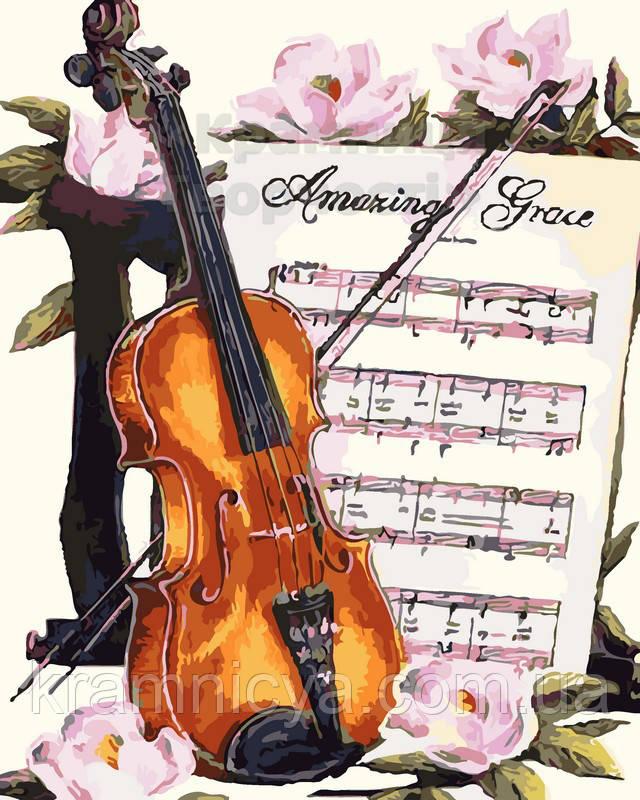 Живопись по номерам 'Мелодия для скрпипки', 40х50 (AS0100)