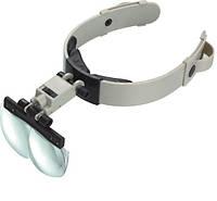 Бинокулярные очки MG81002 с LED подсветкой, увеличение:1,2Х 1,8Х 2,5Х 3,5Х, фото 1