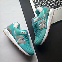 Женские бирюзовые кроссовки New Balance 574