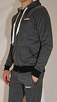 Мужской спортивный костюм Reebok (кофта с капюшоном, штаны на манжетах)