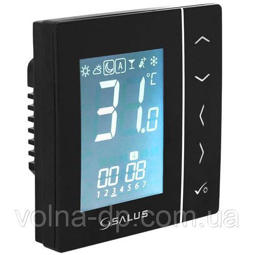 VS10BRF Беспроводной комнатный термостат с цифровой индикацией 4 в 1, 230В (черный)