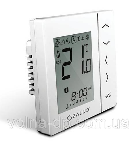 VS20WRF Беспроводной комнатный термостат с цифровой индикацией 4 в 1, с питанием от батареек (белый)