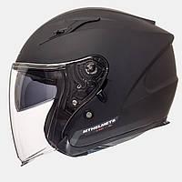 Открытый шлем MT Avenue Black Matt с очками