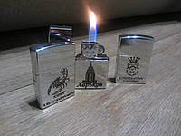 Оригинальная подарочная газовая зажигалка в стиле zippo с гравировкой мужской сувенир на память