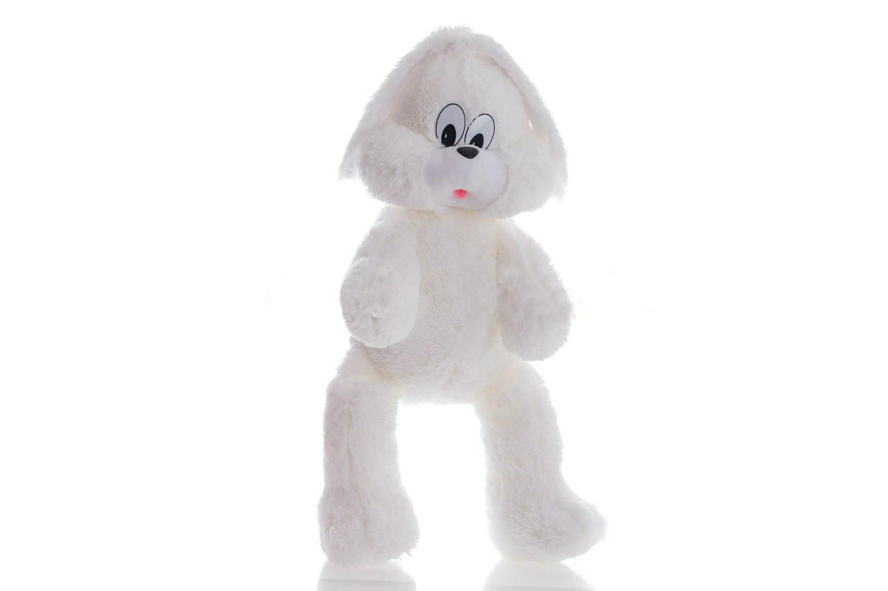 Мягкая игрушка Алина зайка Снежок 65 см белый