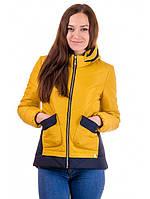 Стильная Куртка женская молодежная весенняя на силиконе Размер 50
