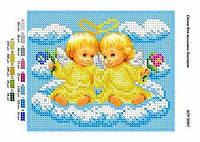 Схема для вышивания бисером - Пара ангелочков 1шт.