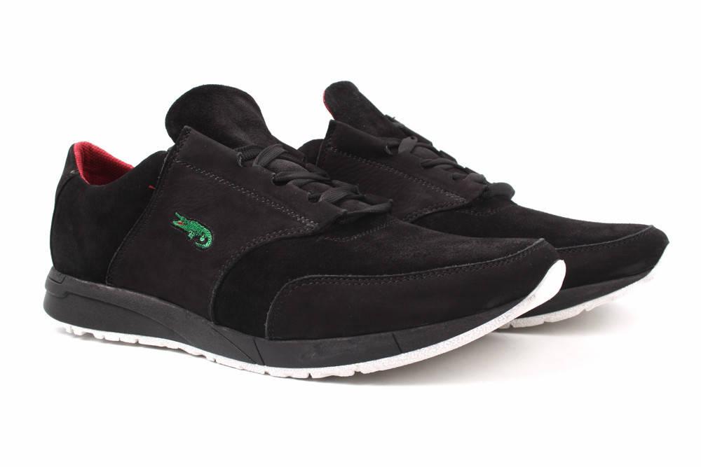Туфли мужские Brave натуральный замш, цвет черный (мокасины, комфорт, платформа, весна\осень)